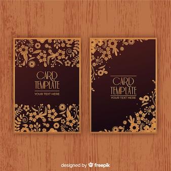 Modèle de carte de visite élégant avec style floral