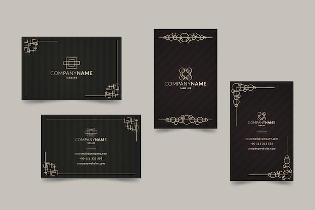 Modèle de carte de visite élégant