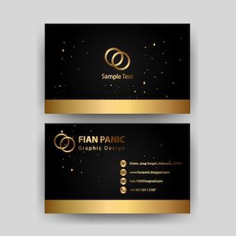 Modèle de carte de visite avec élément de luxe concept or