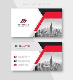 Modèle de carte de visite d'entreprise blanche de carte de visite moderne