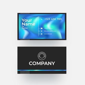 Modèle de carte de visite d'entreprise colorée