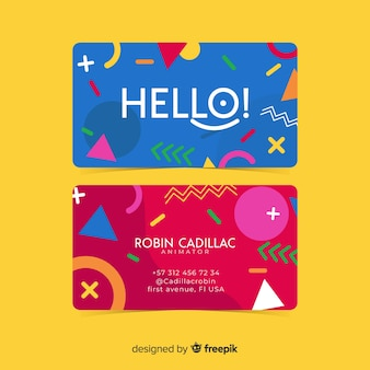 Modèle de carte de visite entreprise, design recto et verso