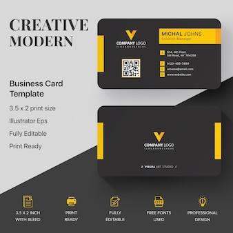 Modèle de carte de visite entreprise moderne