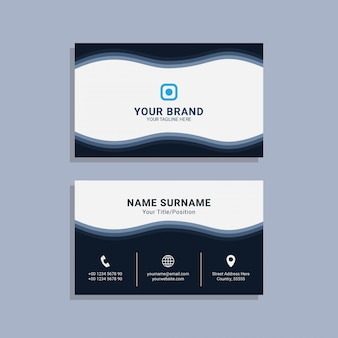 Modèle de carte de visite entreprise premium vecteur