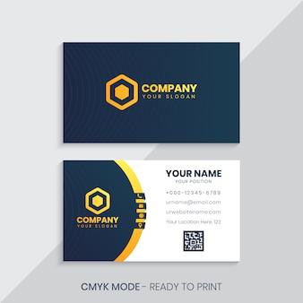 Modèle de carte de visite d'entreprise