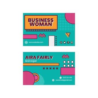 Modèle de carte de visite de femme d'affaires