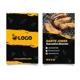 Modèle de carte de visite de fête barbecue