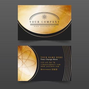 Modèle de carte de visite de feuille d'or