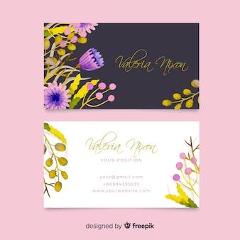 Modèle de carte de visite floral élégant