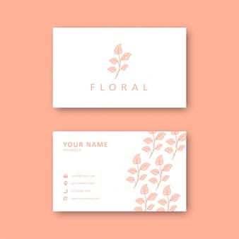 Modèle de carte de visite floral
