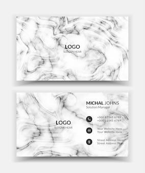 Modèle de carte de visite de fond de marbre