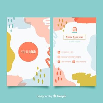 Modèle de carte de visite avec des formes abstraites