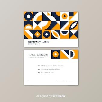 Modèle de carte de visite géométrique abstraite