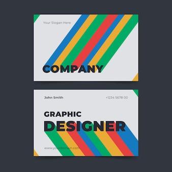 Modèle de carte de visite de graphiste créatif