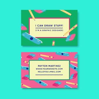 Modèle de carte de visite de graphiste drôle