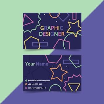 Modèle de carte de visite de graphiste