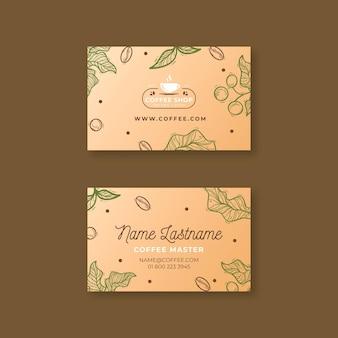 Modèle de carte de visite horizontale de café