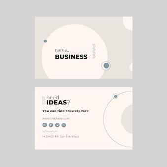 Modèle de carte de visite horizontale commerciale marketing