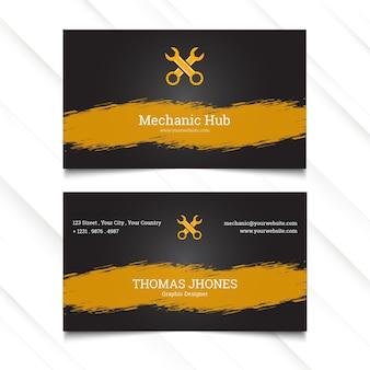 Modèle de carte de visite horizontale de moyeu mécanique