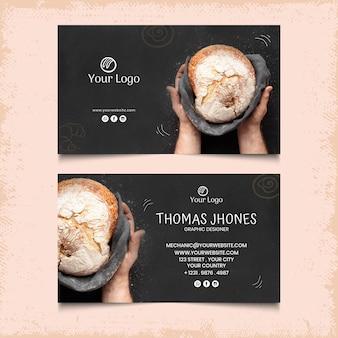 Modèle de carte de visite horizontale recto-verso de pain
