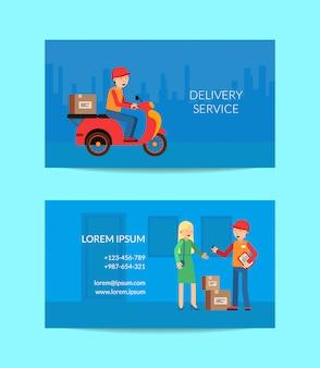 Modèle de carte de visite de livraison rapide