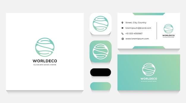 Modèle et carte de visite de logo d'écologie et d'environnement