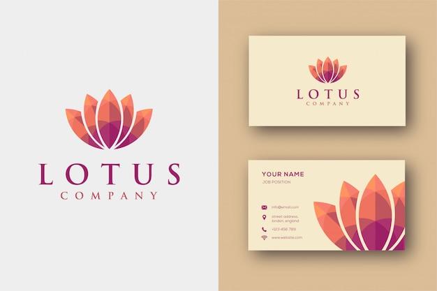 Modèle de carte de visite et logo lotus