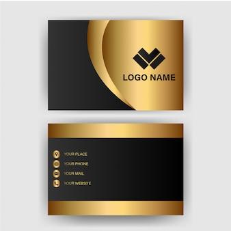 Modèle de carte de visite avec luxe dégradé d'or