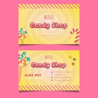 Modèle de carte de visite de magasin de bonbons