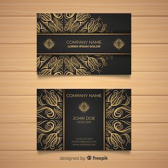 Modèle de carte de visite mandala