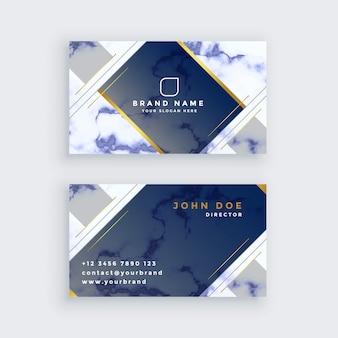 Modèle de carte de visite en marbre bleu