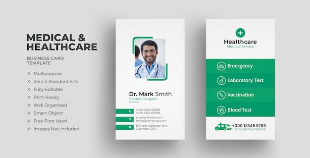 Modèle de carte de visite médicale