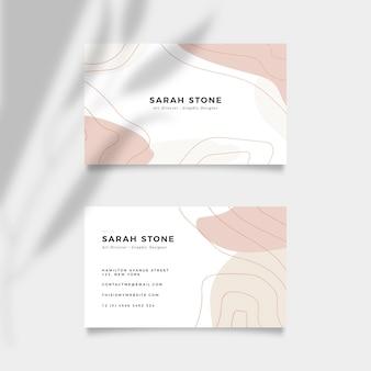 Modèle de carte de visite minimal coloré
