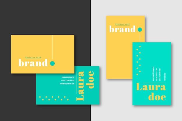 Modèle de carte de visite minimale de marque