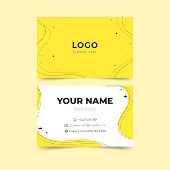 Modèle de carte de visite minimaliste jaune