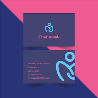 Modèle de carte de visite minimaliste