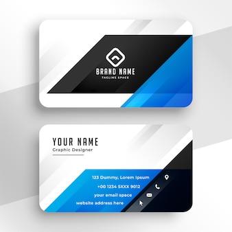 Modèle de carte de visite moderne bleu élégant