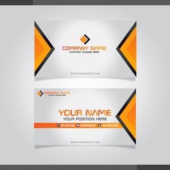 Modèle de carte de visite moderne, couleurs orange
