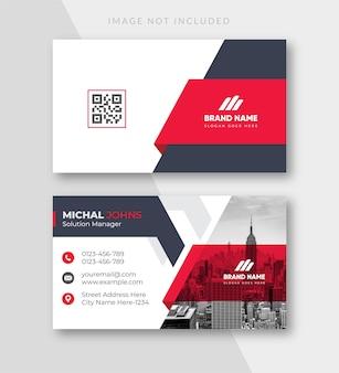 Modèle de carte de visite moderne et créative rouge et blanc