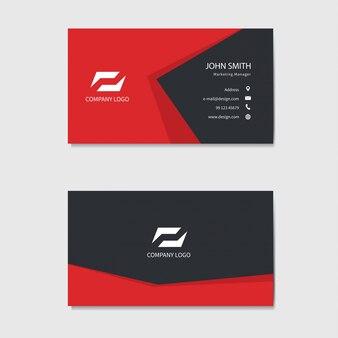 Modèle de carte de visite moderne. fond rouge.