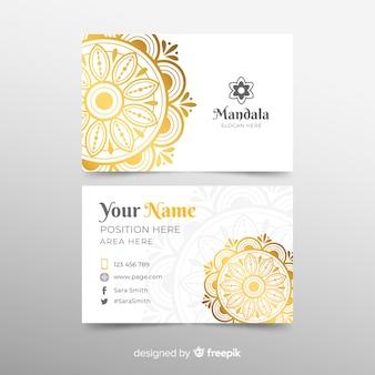 Modèle de carte de visite moderne avec mandala