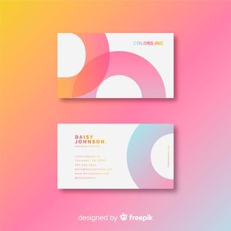 Modèle de carte de visite moderne avec un style coloré