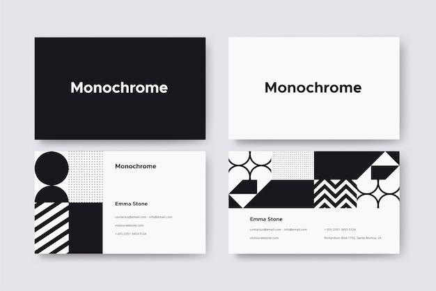 Modèle de carte de visite monochrome
