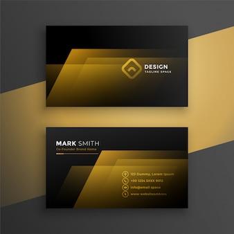 Modèle de carte de visite noir et or
