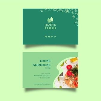 Modèle de carte de visite de nourriture saine