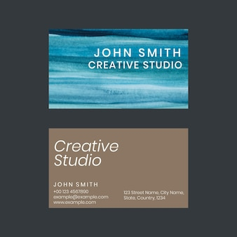 Modèle de carte de visite ombre aquarelle pour artistes créatifs