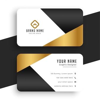 Modèle de carte de visite en or premium minimal
