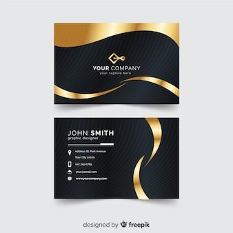 Modèle de carte de visite en or