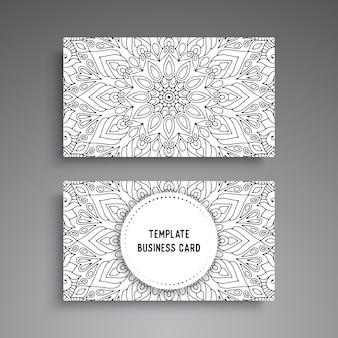 Modèle de carte de visite ornementale mandala