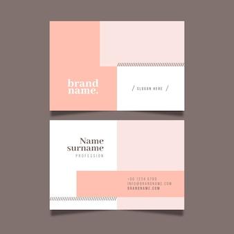 Modèle de carte de visite pack minimal coloré